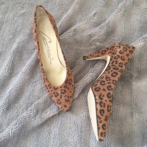 Shoes - Vintage Caressa Animal Print Pumps